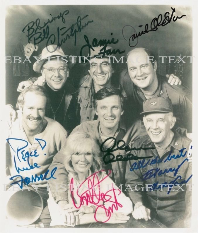 MASH CAST AUTOGRAPHED 8x10 RP PHOTO SWIT ALDA FARR CHRISTOPHER MORGAN STIERS