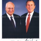 US PRESIDENT GEORGE BUSH AND DICK CHENEY AUTOGRAPHED 8x10 RP PHOTO