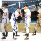 MICKEY MANTLE DUKE SNIDER JOE DIMAGGIO AND WILLIE MAYS AUTOGRAPHED 8x10 RP PHOTO