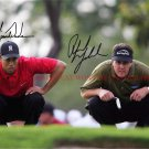 PHIL MICKELSON AND TIGER WOODS AUTOGRAPHED 8x10 RP PHOTO LEGENDARY GOLF GREATS
