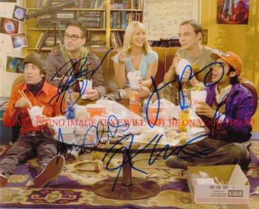 THE BIG BANG THEORY CAST SIGNED AUTOGRAPHED 8x10 RP PHOTO KALEY CUOCO GALECKI PARSONS