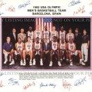 1992 NBA DREAM TEAM SIGNED AUTOGRAPHED 8x10 RP PHOTO MICHAEL JORDAN PIPPEN BIRD BARKLEY