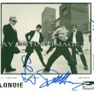 BLONDIE BAND AUTOGRAPHED 8x10 RP PROMO PHOTO DEBBIE HARRY CLEM JIMMY
