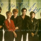THE HUMAN LEAGUE BAND AUTOGRAPHED 6x9 RP PROMO PHOTO