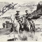 THE LONE RANGER CAST AUTOGRAPHED 8x10 RP PHOTO CLAYTON MOORE AND JAY SILVERHEELS