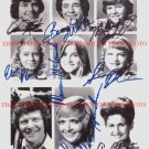 THE BRADY BUNCH FULL CAST ALL 9 AUTOGRAPHED 8x10 RP PHOTO