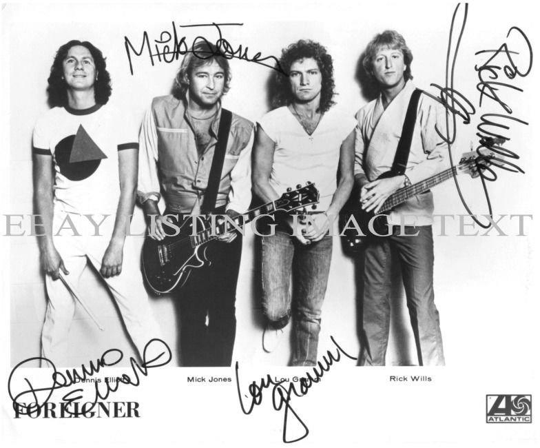 FOREIGNER BAND AUTOGRAPHED 8x10 RP PROMO PHOTO GREAT CLASSIC ROCK HOT BLOODED