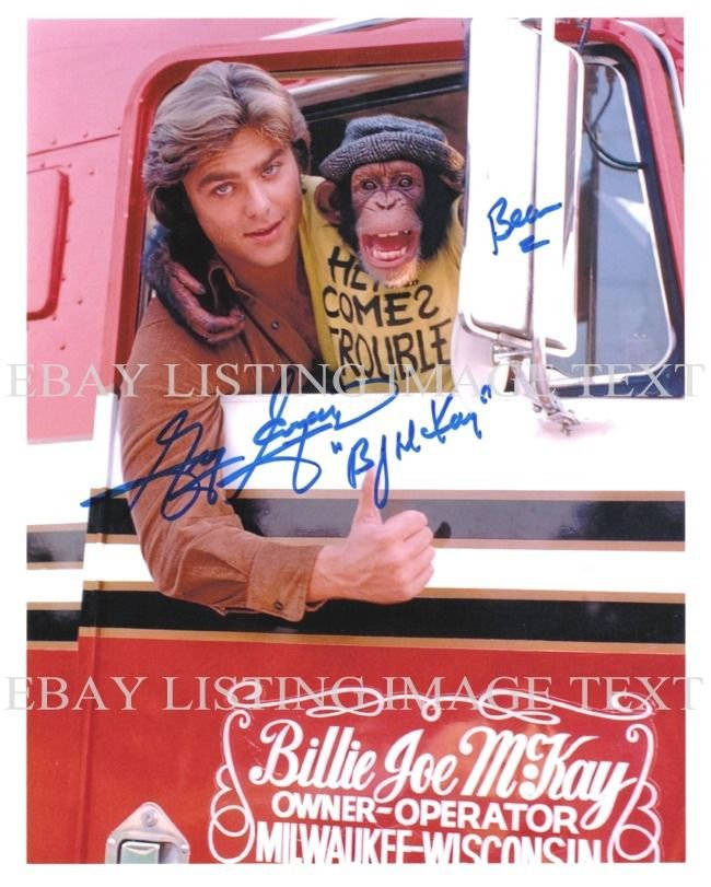 GREG EVIGAN AUTOGRAPHED 8x10 RP PHOTO BJ AND THE BEAR