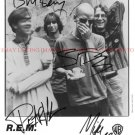 REM BAND AUTOGRAPHED 8x10 RP PROMO PHOTO ALL 4 R.E.M.