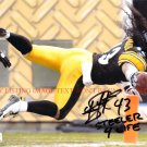 TROY POLAMALU STEELER FOR LIFE AUTOGRAPHED 8x10 RP PHOTO PITTSBURGH STEELERS