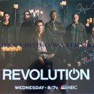 REVOLUTION CAST HAND SIGNED 11X17 PHOTO POSTER BY 3 SDCC ELIZABETH MITCHELL