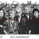R.E.O. SPEEDWAGON BAND SIGNED AUTOGRAPHED 8x10 RP PROMO PHOTO ALL 5 REO CLASSIC ROCK