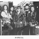 38 SPECIAL BAND AUTOGRAPHED 8x10 RP PHOTO HOLD ON LOOSELY VAN ZANT