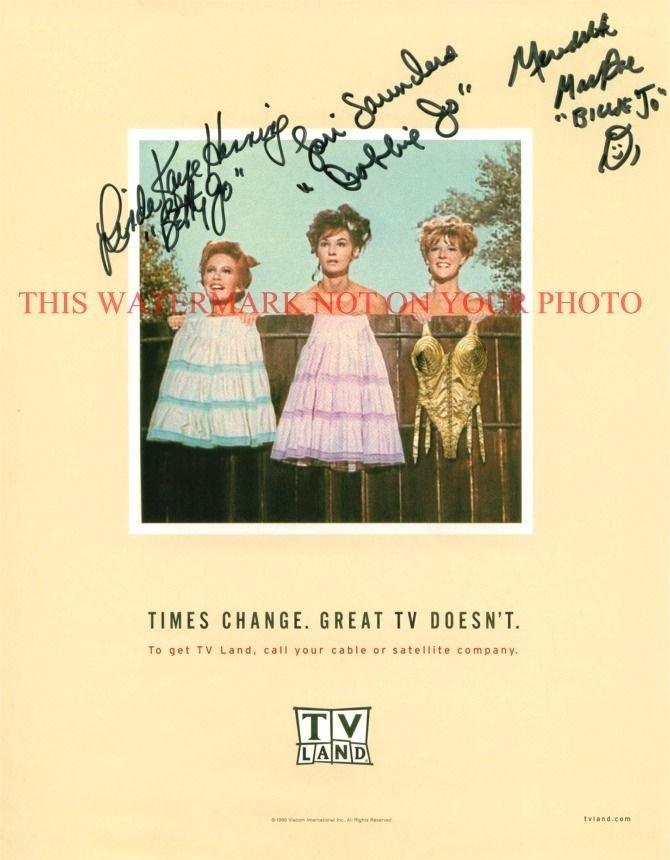 PETTICOAT JUNCTION CAST AUTOGRAPHED 8x10 RP PHOTO BETTY BOBBIE BILLIE JO