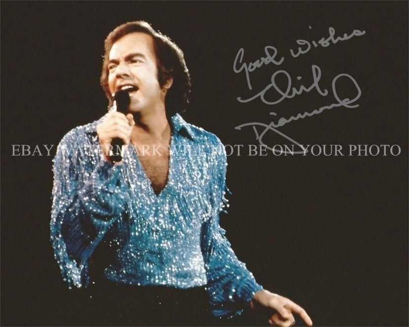 NEIL DIAMOND SIGNED AUTOGRAPHED 8x10 RP PHOTO INCREDIBLE PERFORMER