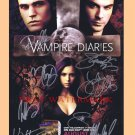 THE VAMPIRE DIARIES CAST ORIGINAL HAND SIGNED AUTOGRAPHED w COA 11x17 POSTER SDCC BY 8 NINA DOBREV