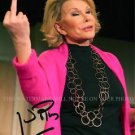 JOAN RIVERS SIGNED AUTOGRAPHED 8X10 RPT PHOTO INCREDIBLE COMEDIAN THE BIRD FINGER