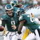 NICK FOLES AND LESEAN MCCOY SIGNED AUTOGRAPHED 8x10 RP PHOTO PHILADELPHIA EAGLES