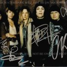 HIM GROUP BAND AUTOGRAPHED 8x10 RP PHOTO VILLE VALO