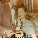 LAUREN BACALL AUTOGRAPHED 6x9 RP PHOTO with HUMPHREY BOGART