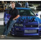 PAUL WALKER THE FAST AND FURIOUS SIGNED AUTOGRAPHED 8x10 RP PHOTO AWESOME BLUE CAR