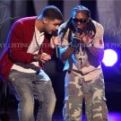 DRAKE DRIZZY AND LIL WAYNE AUTOGRAPHED 8x10 RP PHOTO GREAT DUO