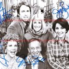 THREE'S COMPANY FULL CAST SIGNED AUTOGRAPHED 8x10 RP PHOTO JOHN RITTER SOMERS THREES 3s