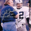 JOHN MADDEN AND KEN KENNY STABLER SIGNED AUTOGRAPHED AUTO 8X10 RP PHOTO OAKLAND RAIDERS