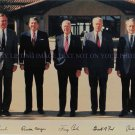 5 USA PRESIDENTS GEORGE BUSH REAGAN JIMMY CARTER FORD NIXON SIGNED 8x10 RP PHOTO