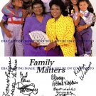 """FAMILY MATTERS CAST AUTOGRAPHED 6x9 RP PHOTO BY 8 JALEEL WHITE """"URKEL"""" +"""