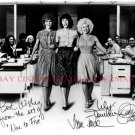 9 TO 5 CAST SIGNED AUTOGRAPHED 8x10 RP PHOTO DOLLY PARTON TOMLIN JANE FONDA NINE TO FIVE
