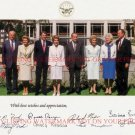 US PRESIDENTS AND FIRST LADIES SIGNED AUTOGRAPHED 8x10 RP PHOTO BUSH REAGAN FORD NIXON