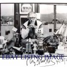 "RAY BRADBURY AUTOGRAPHED 8""x10"" RP PHOTO WITH ALL HIS PROPS"