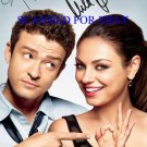 "MILA KUNIS & JUSTIN TIMBERLAKE SIGNED 8""x10"" RP PHOTO FRIENDS WITH BENEFITS"