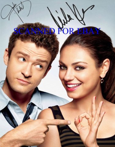 """MILA KUNIS & JUSTIN TIMBERLAKE SIGNED 8""""x10"""" RP PHOTO FRIENDS WITH BENEFITS"""