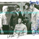 STAR TREK CAST SIGNED AUTOGRAM RP PHOTO WILLIAM SHATNER LEONARD NIMOY KELLEY RODDENBERRY