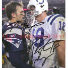 PEYTON MANNING AND TOM BRADY AUTOGRAPHED SIGNED 8x10 RP PHOTO LEGENDARY QUARTERBACKS