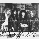 MEGADETH BAND AUTOGRAPHED 8x10 RP PROMO PHOTO LA METAL ROCK NICK MENZA