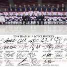 US MENS OLYMPICS HOCKEY TEAM SIGNED BY 26 8x10 RP PHOTO OSHIE SUTER QUICK + USA