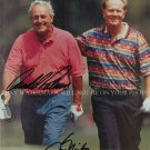 ARNOLD PALMER AND JACK NICKLAUS SIGNED AUTOGRAPHED AUTO 8x10 RP PHOTO GOLF LEGENDS