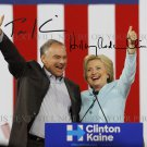 HILLARY CLINTON AND TIM KAINE AUTOGRAPH AUTOGRAM 8x10 RP PHOTO PRESIDENT CANDIDATES