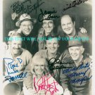 M*A*S*H FULL CAST SIGNED RP PHOTO MASH STIERS MORGAN +