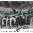 THE DOOBIE BROTHERS BAND SIGNED AUTOGRAPHED 8X10 RP PHOTO BY 7 MICHAEL HOSSACK +