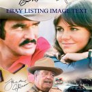 SMOKEY AND THE BANDIT BURT REYNOLDS SALLY FIELDS JACKIE GLEASON SIGNED RP PHOTO