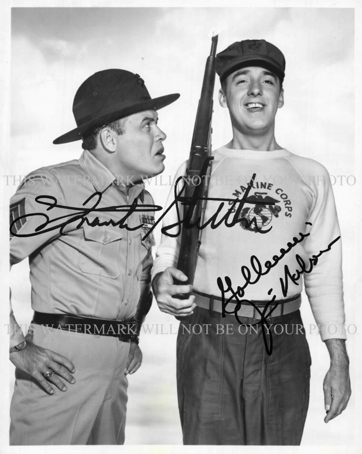 GOMER PYLE TV SHOW CAST SIGNED AUTOGRAPHED 8x10 RP PHOTO JIM NABORS AND FRANK SUTTON