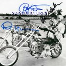 DENNIS HOPPER JACK NICHOLSON AND PETER FONDA SIGNED AUTOGRAPH 8X10 RP PHOTO EASY RIDER