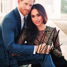 PRINCE HARRY AND MEGHAN MARKLE SIGNED AUTOGRAPH 8x10 RP PHOTO