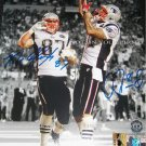 ROB GRONKOWSKI AND AARON HERNANDEZ SIGNED AUTOGRAPH 8x10 RP PHOTO NEW ENGLAND PATRIOTS