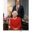 GEORGE HERBERT WALKER BUSH AND BARBARA BUSH SIGNED AUTOGRAPHED 8x10 RPT PHOTO 41st US PRESIDENT