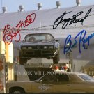 SMOKEY AND THE BANDIT CAST SIGNED AUTOGRAPH 8x10 RP PHOTO BURT REYNOLDS SALLY FIELD JERRY REED